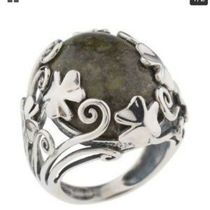 Jewelry - NWT sterling silver connemara marble Irish ring  8